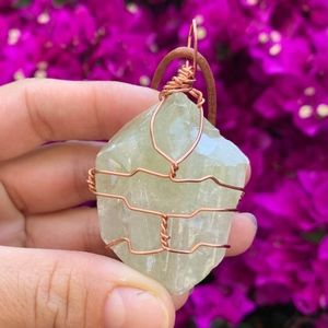 Jewelry - wrapped healing crystal necklace